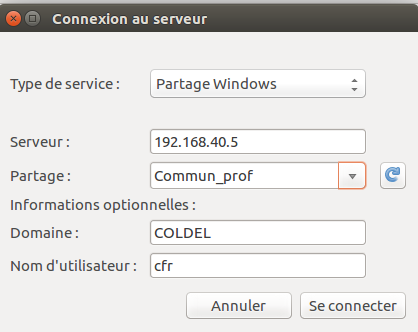 Monter un volume du serveur